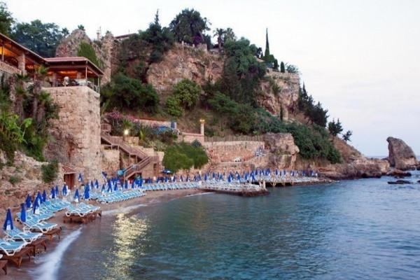 Plage - Hôtel Dogan 3* Antalya Turquie