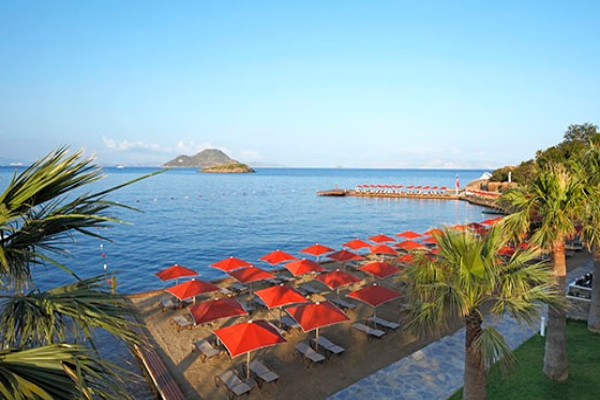 Plage - Hôtel Kadikale Resort 4* Bodrum Turquie