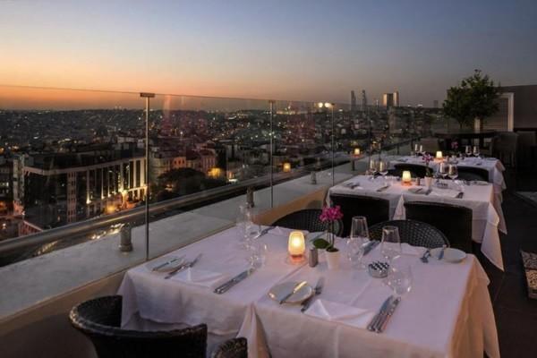 Terrasse - Hôtel Rixos Pera Istanbul 5* Istanbul Turquie