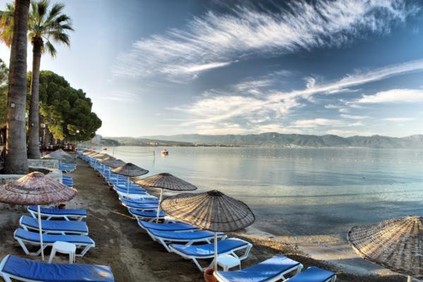 Plage - Hôtel Omer Holiday Resort 4* Izmir Turquie