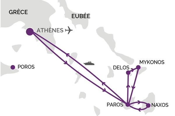 Circuit Les Cyclades Paros Mykonos Delos Et Naxos Les